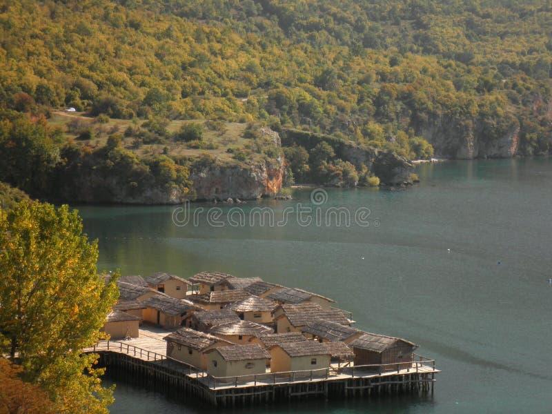 Lac Macédoine Ohrid images libres de droits