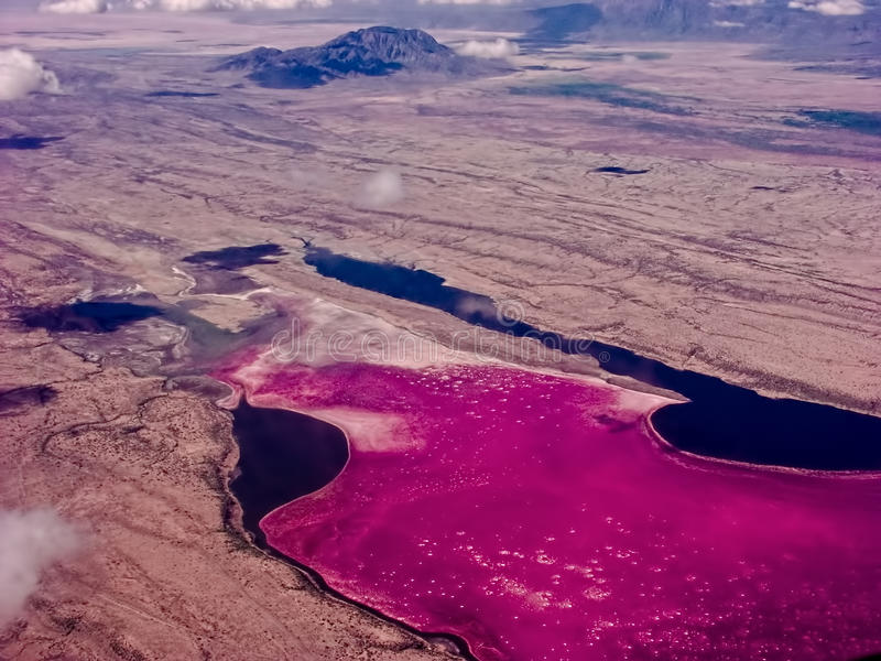 Lac Magadi au Kenya photo libre de droits