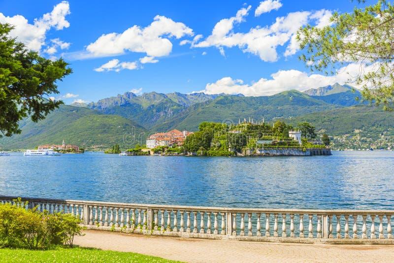 Lac Maggiore chez Stresa, Italie du nord photos libres de droits