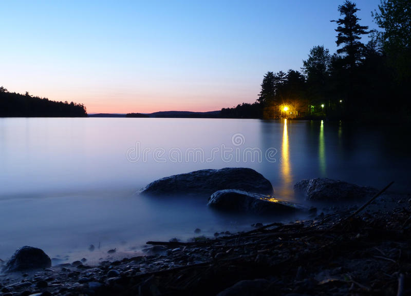 Lac maine images stock