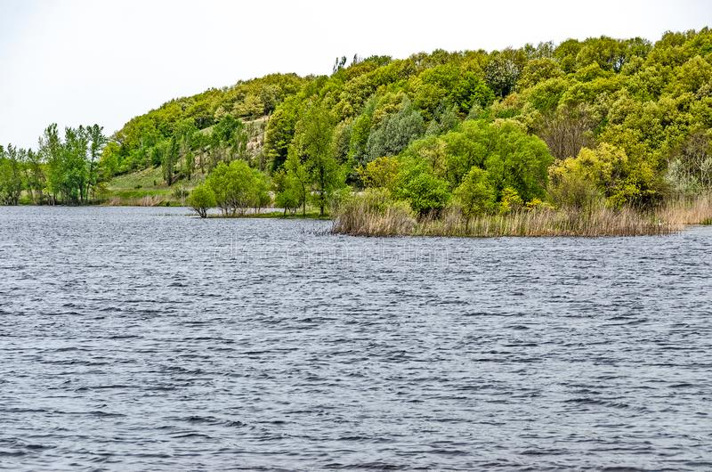 Lac Manistee au printemps image stock