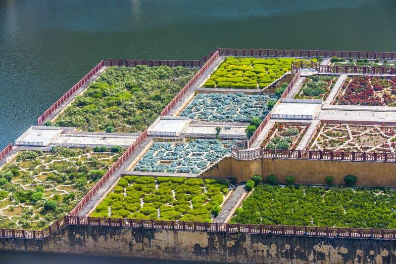 Lac Maota et jardins d'Amber Fort à Jaipur, Ràjasthàn images libres de droits