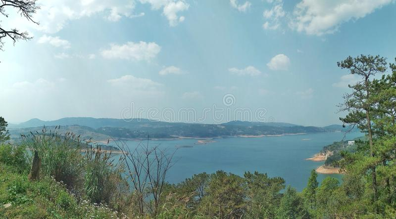 Lac Meghalaya Umiam photo libre de droits