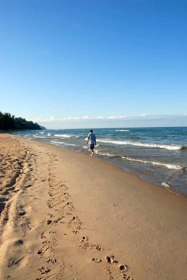 Lac Michigan Etats-Unis photographie stock libre de droits