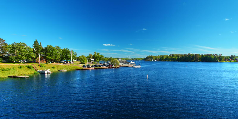 Lac Minocqua le Wisconsin photos stock