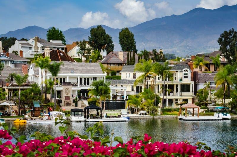 Lac Mission Viejo - Mission Viejo, la Californie image libre de droits