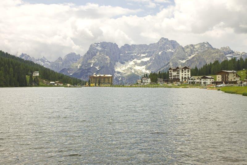 Lac Misurina photos libres de droits