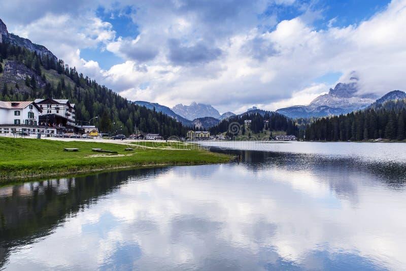 Lac Misurina, Italie images libres de droits