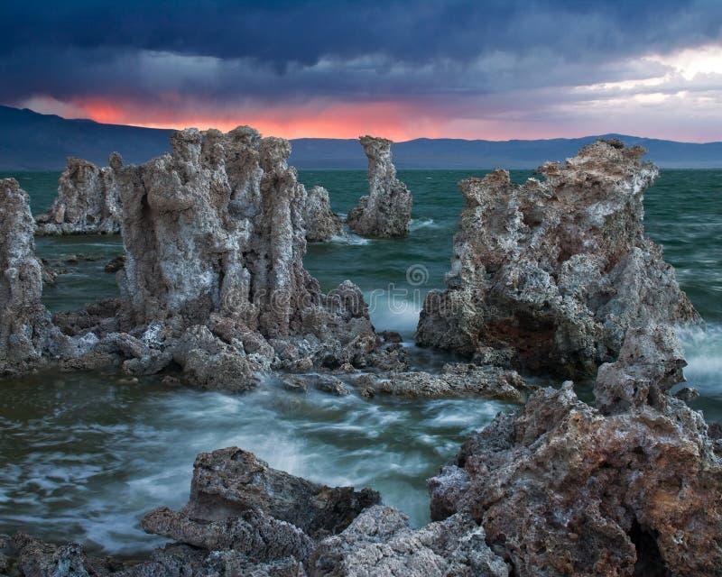 Lac mono la Californie images libres de droits