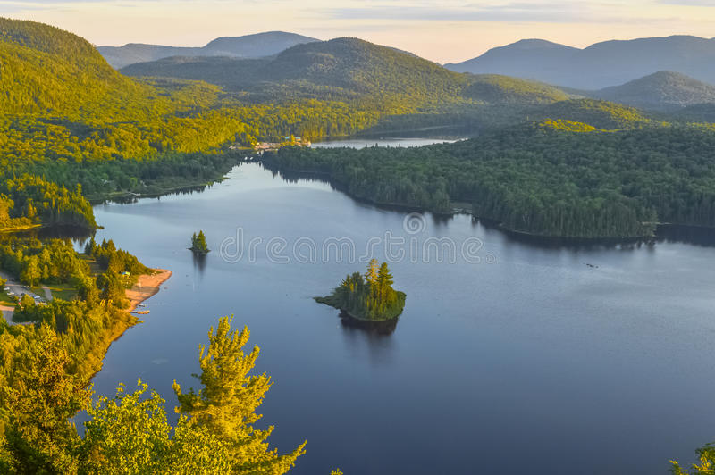 Lac Monroe in Mont-Tremblant national park royalty free stock image