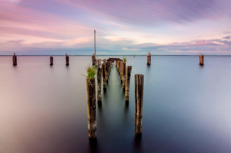 Lac Monroe Pier photo stock