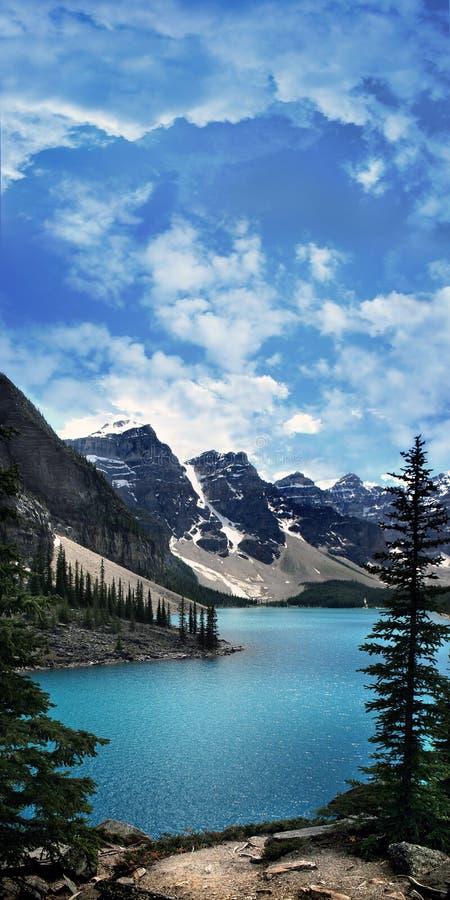 Lac moraine images stock