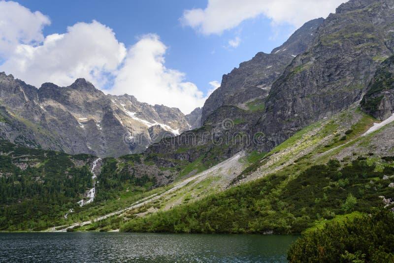 Lac Morskie Oko, parc national de Tatra photos stock