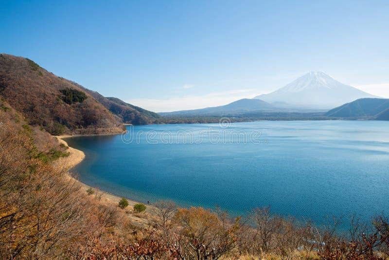 Lac Motosu Japon fuji de montagne image stock