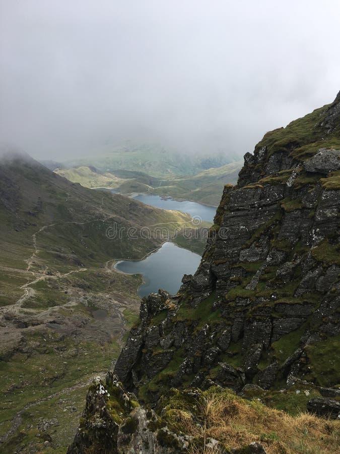 Lac mountain dans Snowdonia photo libre de droits