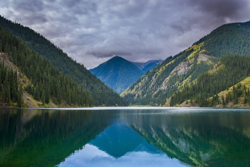 Lac mountain, Kazakhstan photographie stock
