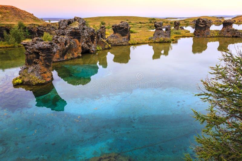 Lac Myvatn photos libres de droits