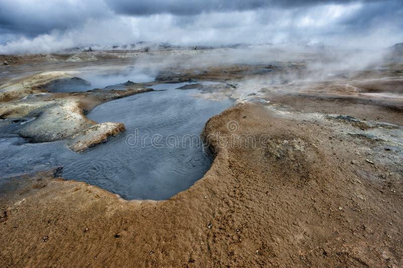 Lac Myvatn en Islande photographie stock