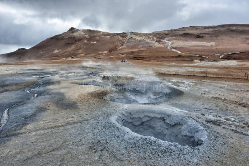 Lac Myvatn en Islande image stock
