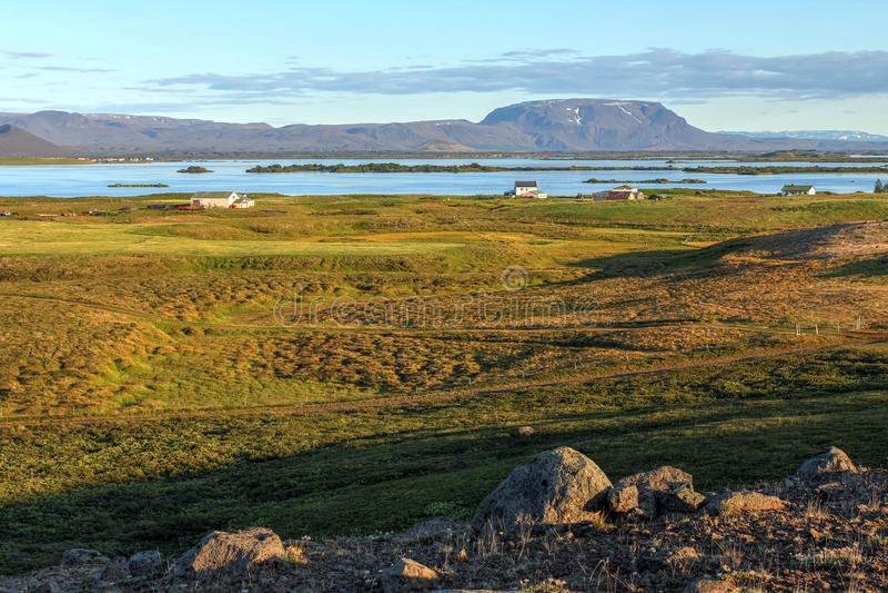 Lac Myvatn, Islande photographie stock
