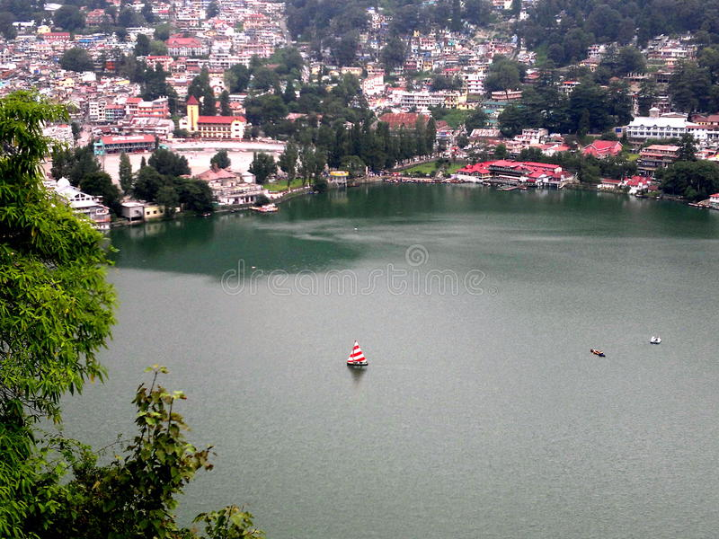 Lac Naini photographie stock