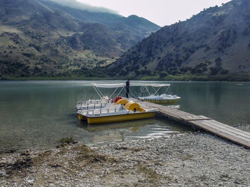 Lac naturel Kournas, images libres de droits