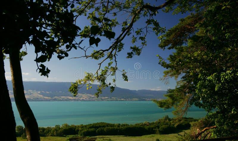 Lac Neuchâtel photo stock