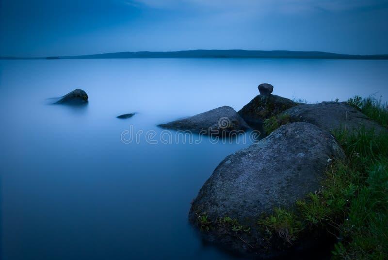 Lac night photos libres de droits