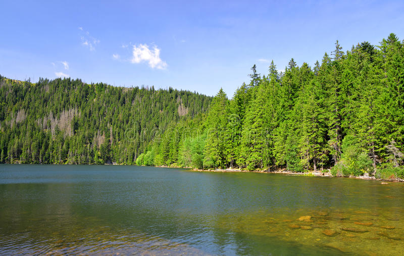 Lac noir images libres de droits