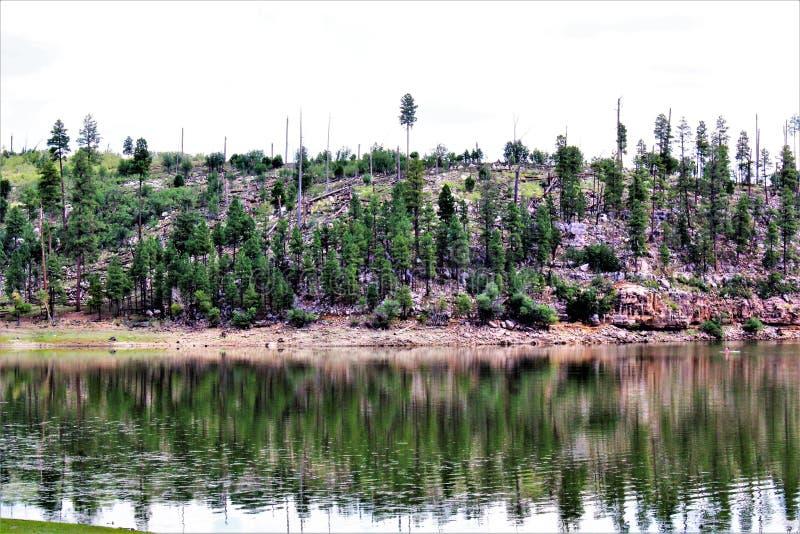 Lac noir canyon, le comté de Navajo, Arizona, Etats-Unis, réserve forestière d'Apache Sitegreaves photos libres de droits