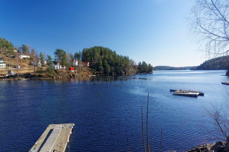Lac norvégien Tokevann photo stock