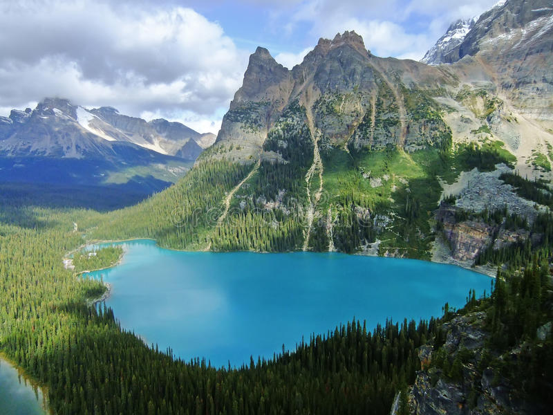 Lac O'Hara, Yoho National Park, Canada images libres de droits