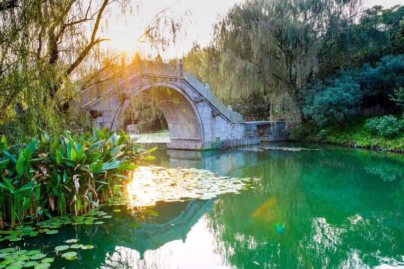 Lac occidental à Hangzhou, Zhejiang, Chine image libre de droits