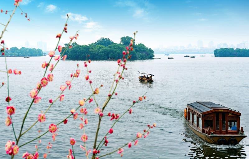 lac occidental de hangzhou de porcelaine images stock