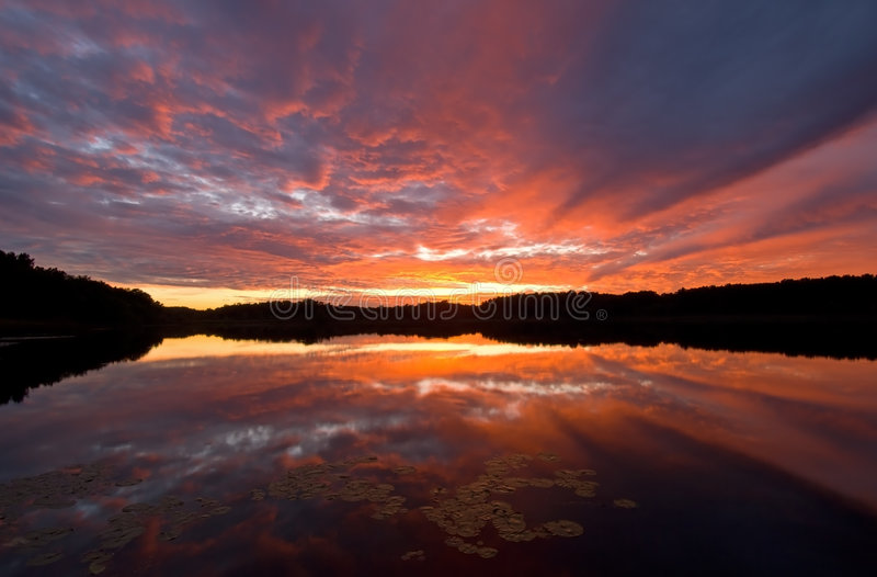Lac occidental sunset images stock