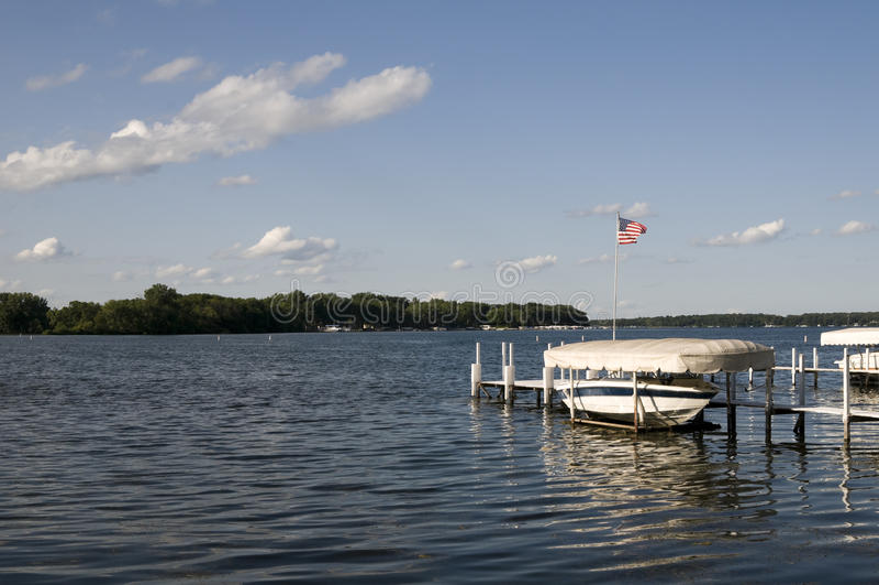 Lac Okoboji en été images libres de droits