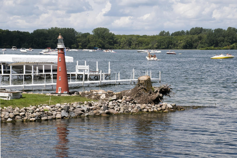 Lac Okoboji en Iowa photos stock