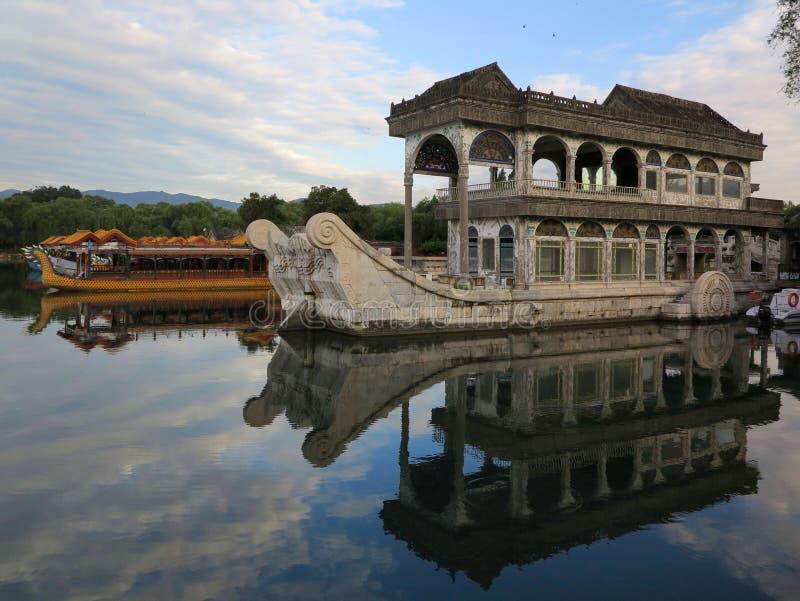 Lac palace d'été de paysage urbain-Le de Pékin photos stock