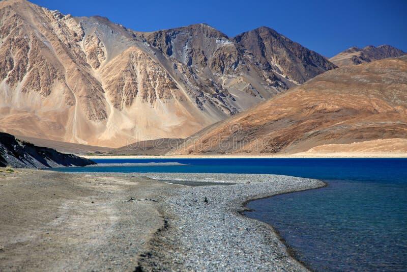 Lac Pangong image stock