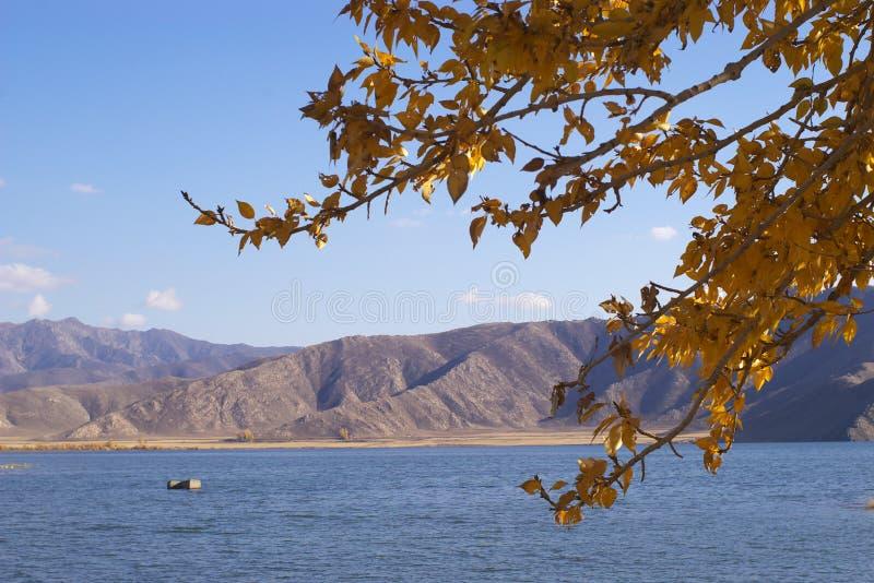 Lac par le sidehill photos libres de droits