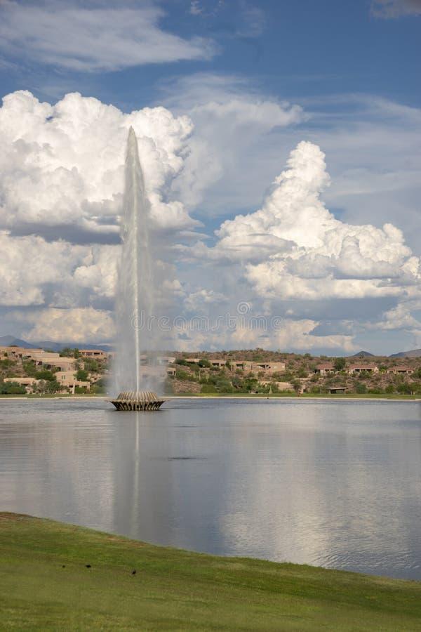Lac park de fontaine, collines de fontaine, Arizona image stock