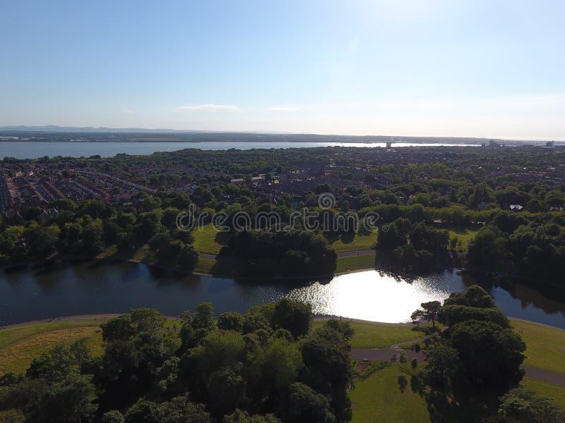Lac park de Liverpool Sefton image stock