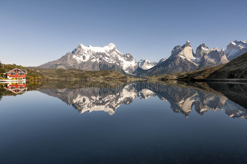 Lac Pehoe, Torres Del Paine National Park, Patagonia, Chili photo libre de droits