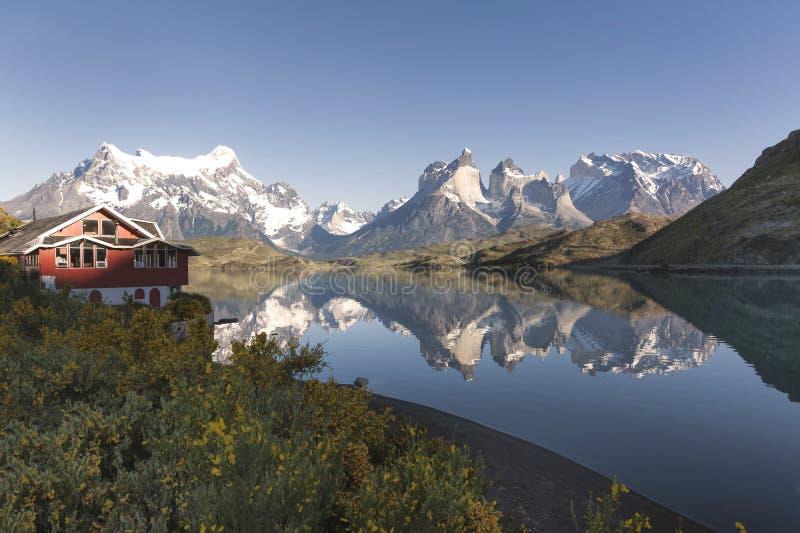 Lac Pehoe, Torres Del Paine National Park, Patagonia, Chili image libre de droits
