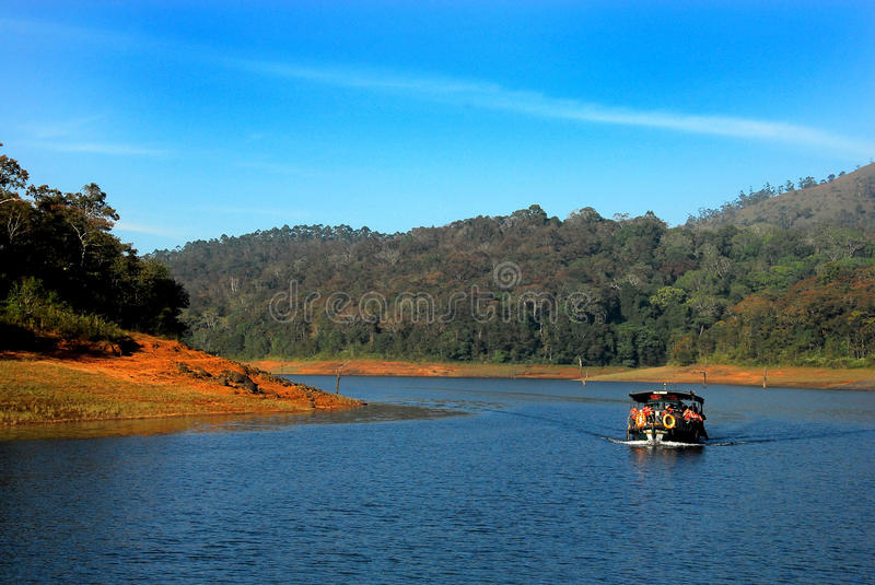 Lac Periyar photo stock