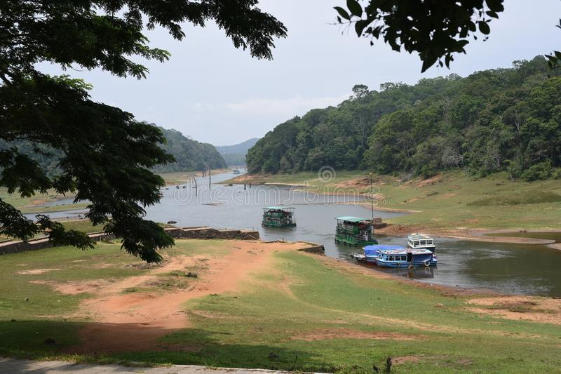 Lac Periyar et parc national, Thekkady, Kerala photographie stock libre de droits