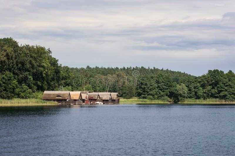 Lac Petersdorf dans Pomerania Mecklenburg-occidental, Allemagne photographie stock libre de droits