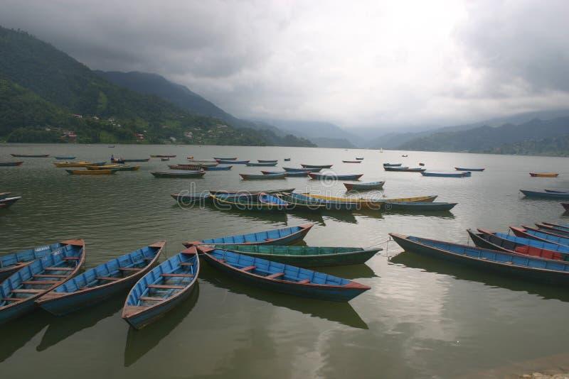 Lac Phewa, Pokhara Népal photo libre de droits