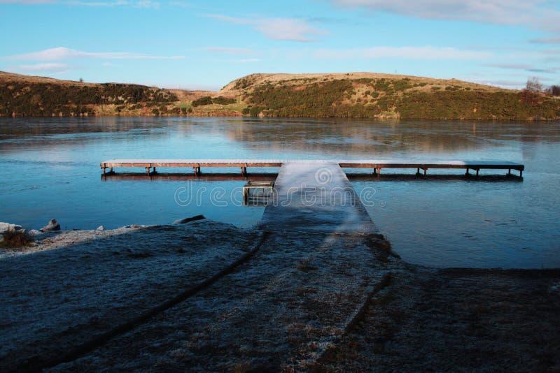 Lac pier photographie stock libre de droits
