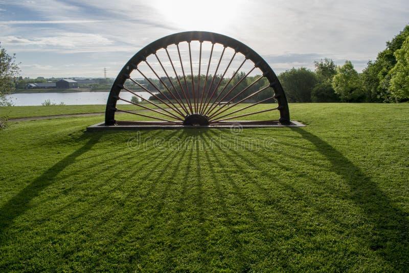 Lac Pit Head Winding Wheel Wath Manvers images libres de droits